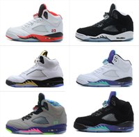 Wholesale High Quality Retro Bel Air Men Women Basketball Shoes V Trainers Olympic S Metallic Black Kids Sneakers