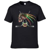 art logo designs - Chicago Blackhawks Skull Logo Art T Shirt New Design Men Brand Clothing Cotton Tops Tees White Black tshirt Size XS XXXL