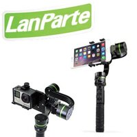 Wholesale Lanparte LA3D S2 axis handheld gimbal stabilizer for smartphone and Go Pro Detachable design can be mounted on bike