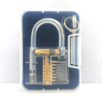 Wholesale Factory Price Pick Cutaway Inside Padlock Transparent Lock For Locksmith Practice Training L S size top supplier