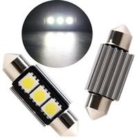 Wholesale 20PCS mm mm SMD Chips Led Canbus Error Free Nonpolar LM Led Festoon Light
