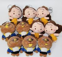Unisex belle keychain - Beauty and the beast Plush toys keychain Doll key chains key chains Pendant Belle princess Stuffed Animals keyring cm inches KKA1596