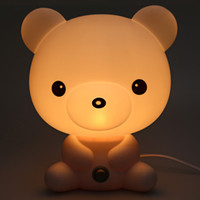 Wholesale Lovely Bear Baby bedding Bedside Lamp Cartoon Animal Design Professional Energy Saving Light for Children with EU PLUG
