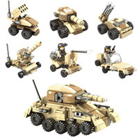 Wholesale Building Blocks Toys Super Tanks Compatible With Self Locking Bricks For Children Birthday YH532