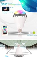 Wholesale Smart LED Light BL05 Wireless Bluetooth Speaker W E27 Colors Bulbs Lamp Audio Speaker LED Lamp For IOS Android