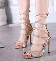 bandage dress fabric - gold silver black zapatos mujer womens bridal shoes roman gladiator sandals bandage strappy snakeskin print leather sandals pump