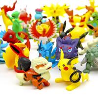 Wholesale Poke Action Figures Multicolor about CM inch mini cartoon children DIY toys Pikachu Model Decoration DHL shipping
