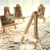 artwork displays - 10pcs Hot Mini Wooden Art Holder Artwork Display Novelty Easels Drawing Boards Beuaty Party Wedding Decor
