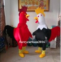 Wholesale Chinese New Year Cock Mascot Costumes Chicken Fancy Dress Rooster Party Clothing Real Images