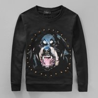 Wholesale High end custom New brand Marcelo burlon sweatshirt D Wolf Stripe print Mercerized cotton men Pullover Hoodie color