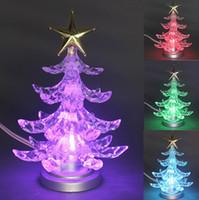 Cheap Free Shipping !!! Christmas Tree Shape Color Changing USB LED Night Light Lamp Christmas Xmas Tree Desk Decoration