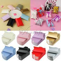 Wholesale 100Pieces cm x cm x cm Cute Kraft Paper Gift Box Bags Pillow Shape Wedding Party Favour Gift Candy Boxes Xmas Decorations