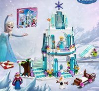 Wholesale Princess Anna Aisha castle Building Set Block Toy Operated Design Figure for kids Sturdy Fun toys girl gift