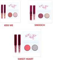 Wholesale IN STOCK New Kylie Cosmetics Valentines Collection Mini Kit Duo Eye kyshadow Lip Gloss Set Kiss Me Smooch Sweet Heart Free DHL