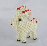beaded sheep - Beaded Zodiac pig snake dragon rabbit hand crafts finished gifts Decoration Ornaments Acrylic scattered beads sheep