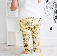 Wholesale Boys Girls Baby Childrens Harem Pants Clothing Cartoon Dinosaur Casual Trousers Spring Autumn Toddler Leggings Infant Clothes