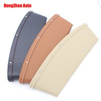 Wholesale New Quality Leather Car Seat Side Crack Catcher Storage Organizer Box Car Seat Slit Pocket black beige brown
