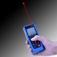 Wholesale 100m ft Digital LCD Laser Distance Meter Measure Range Finder Area Diastimeter Blue