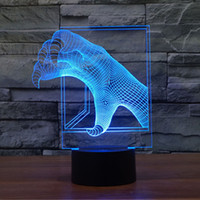 Wholesale New arrival Unique Monster talon D Optical Illusion Colorful Gradient Touch Switch Energy Saving USB Powered Children Kids Night Light