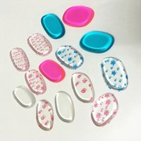 Wholesale Transparent Colorful Silicone Sponges Powder Puff Smooth Soft Puff Flawless Beauty Foundation Latex Free Silisponge Makeup Tools PPA798