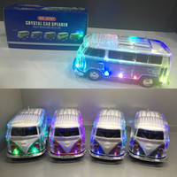 Wholesale WS BT Led Crystal Bus Bluetooth Speaker with coloful LED MP3 Player Portable speaker Support led light FM TF USB drive Aux in DHL free