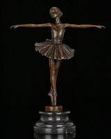 ballerina drawings - Statues gifts Factory Cost Modern Western Ballerina Dancer Bronze Sculpture Ballet Girl Meg Figurine