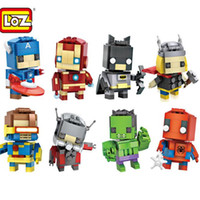 Wholesale Marvel Super Hero Diamond Mini Building Blocks Action Figure Toys Styles ABS Children Toys Funny Can Mix Order