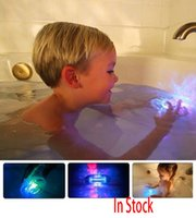 bath tub lights - 2017 LED Bath Toy Party In The Tub Light Waterproof Luminous Toy Bath Water LED Light Kids Waterproof Children Funny Time XL X24