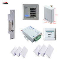 Wholesale RFID Access Control System Kit Set Strike Door Lock ID Card Keytab Power Exit Button Doorbell YOA