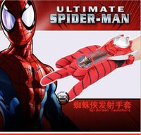 Wholesale hot Classic Superhero Spiderman Toys Justice League fun shooting outdoor cheap toys