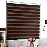 Wholesale Custom Cut to Size Roller Zebra Blind Light Filtering Sheer Shade Brown