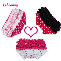Bebé recién nacido Bloomers Niñas Ruffle PP Shorts Pettiskirt TUTU ropa interior bragas Infant Girl Pañal Cover Satin Toddle PP Calzoncillos YKLoving