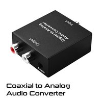 Wholesale Coaxial to Analog Audio Converter Box Digital Analog Audio Adapter for PS3 Set Top Box