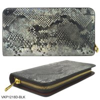 Wholesale ANNA JONES Brand Woman Wallets Clutch Bag Credit Card Package Serpentine Vintage Ladies Purse Long England Style VKP1218D