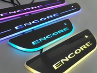 A6 audi pedals - Buick Encore Colorful LED Moving Door Sill Scuff Plate Welcome light Pedal Car Styling Accessories For buick All series