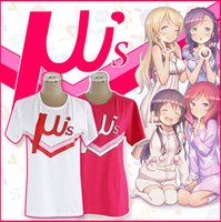 Cheap 2Colors Anime LoveLive! T-Shirts Cosplay Costume Love Live School Idol Group u's Modal Fibre Women Tops Pink   White