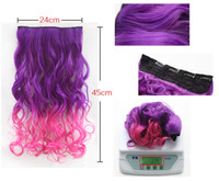auburn sheets - A piece of colored wigs nightclub Harajuku curly hair wig curly hair chip gradient and the wind streaked with Pink Sheet
