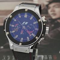 al por mayor la moda de los nuevos hombres del estilo de s-¡Para estrenar! ¡Los deportes mecánicos de acero de los hombres de lujo dirigen el reloj de competición F1, estilo negro / de plata, lujo de la manera!