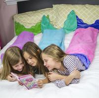 Wholesale Kids Shark Mermaid Blankets Shark Slepping Bag Kids Soft Handmade Animal Sleeping Bag Shark Blankets For Children WJJLZ