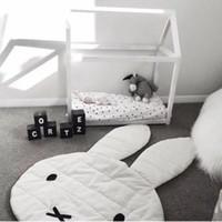 baby floor blanket - New Arrival Large Size Lovely Rabbit Play Mat Soft Blanket Baby Play Rug Floor Creeping Mat Children Room Decor CM