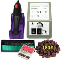 acrylic nail drill bits - Nail Drill Machine V V Buffer Bits Nail Manicure Set RPM x Sanding Bands Acrylic Electric Nail Tip Polish Tools