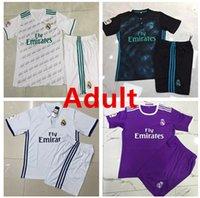 Wholesale 2017 Adult Real Madrid CF Football Jersey Real Madrid Club de Fútbol Adult football Suit soccer Custom number RONALDO