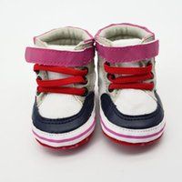 baby jogger red - Sweet Baby Unisex Boy Girl Antiskid PU Leather Lace Up Soft Prewalker Crib Shoes Joggers