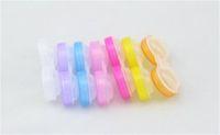 all'ingrosso lenti a contatto-Trasporto-all'ingrosso 100pcs lenti del contatto trasparenti con i colori possono essere scelti i casi di lenti a contatto