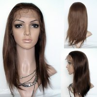 Wholesale Human Hair Glueless Full Lace Wigs Straight Swiss Lace Free Part Brazilian Virgin Hair Lace Front Wigs With Baby Hair