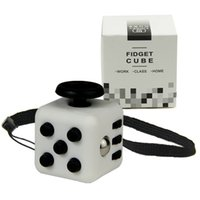 Wholesale Mini Fidget Cube Vinyl Desk Toy Keychain Squeeze Fun Stress Reliever cm Colour Click Glide Flip Spin Breathe Roll With Box