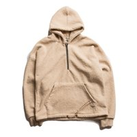 berber fleece pullover - Berber Fleece Hip Hop Sweatshirts and Hoodies Men Winter Streetwear High Quality Fear of God FOG Hoodies Mens Sweatshirts