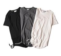 Crew Neck american street fashion - Men s T shirt fashion new street rock European and American style T shirt plain cotton short sleeved T shirt