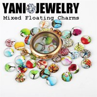 Wholesale Newest mm DIY Charms Glass Cartoon Charms with Tree Dome Cabochons Floating Locket Charms