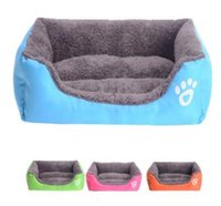 Wholesale Fashion Pet Bed Cushion Paw Print Dog Bed Mat Cozy Soft Puppy Dog House Warming Kennel Waterproof Pad